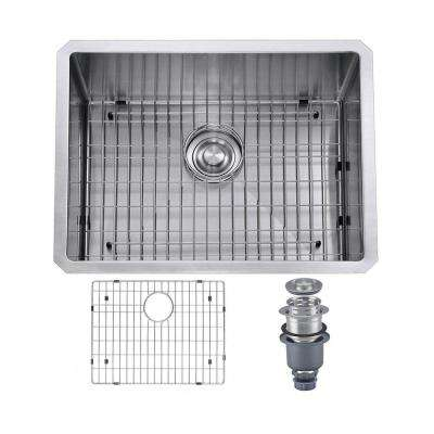 Pro Series R10 Tight Radius Handmade 23 in. 16-Gauge Stainless Steel Undermount Modern Single Bowl Kitchen Sink