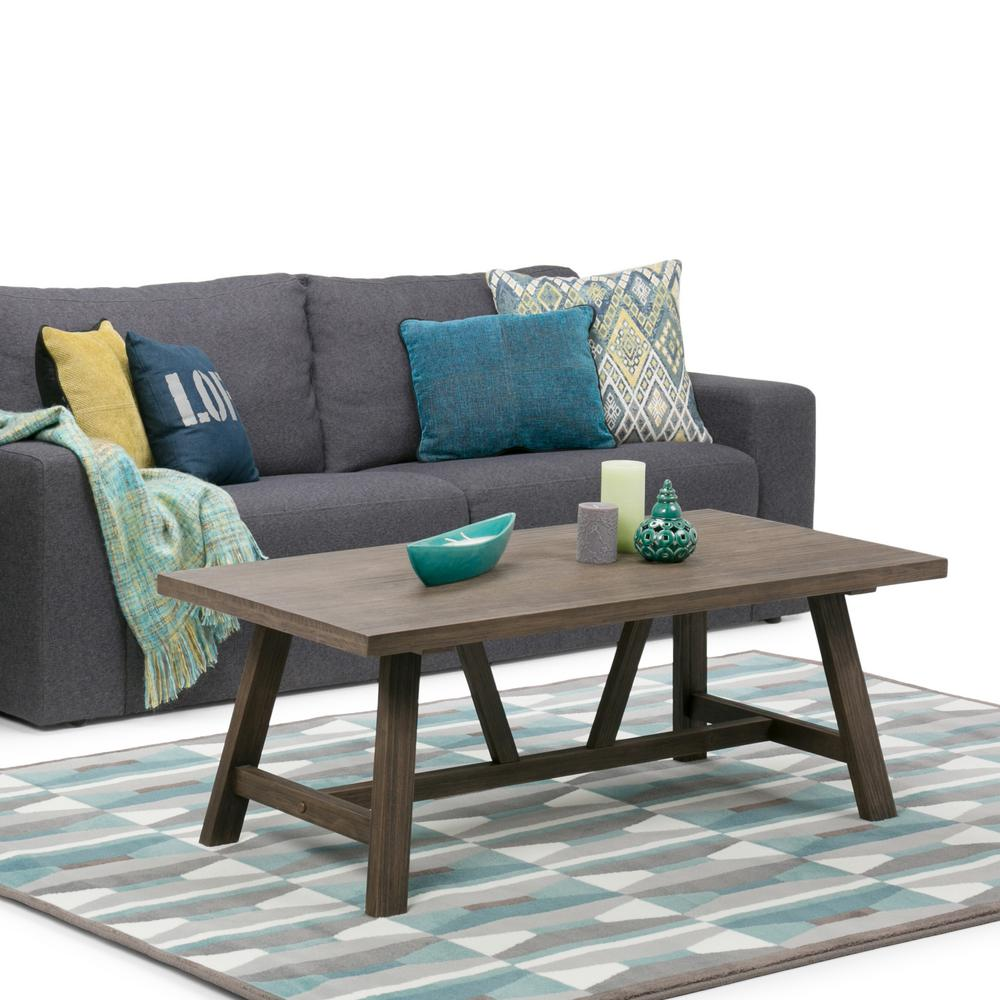 simpli home dylan driftwood coffee table 3axcdln 01 the home depot. Black Bedroom Furniture Sets. Home Design Ideas