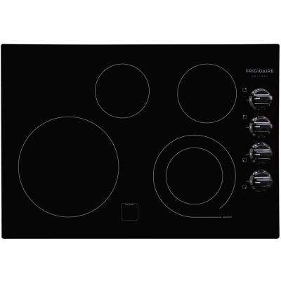30 in. Smooth Electric Cooktop in Black with 4 Elements