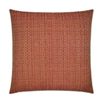 Jackie-O Cinnabar Feather Down 24 in. x 24 in. Decorative Throw Pillow