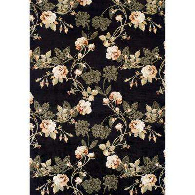 Ferrera Collection Black Lily Multi 5 ft. x 8 ft. Area Rug