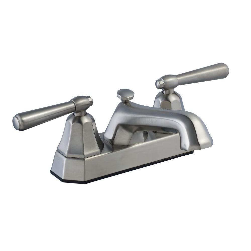 Sentio 4 in. 2-Handle Bathroom Faucet in Brushed Nickel