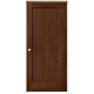 36 in. x 80 in. Madison Milk Chocolate Stain Right-Hand Solid Core Molded Composite MDF Single Prehung Interior Door