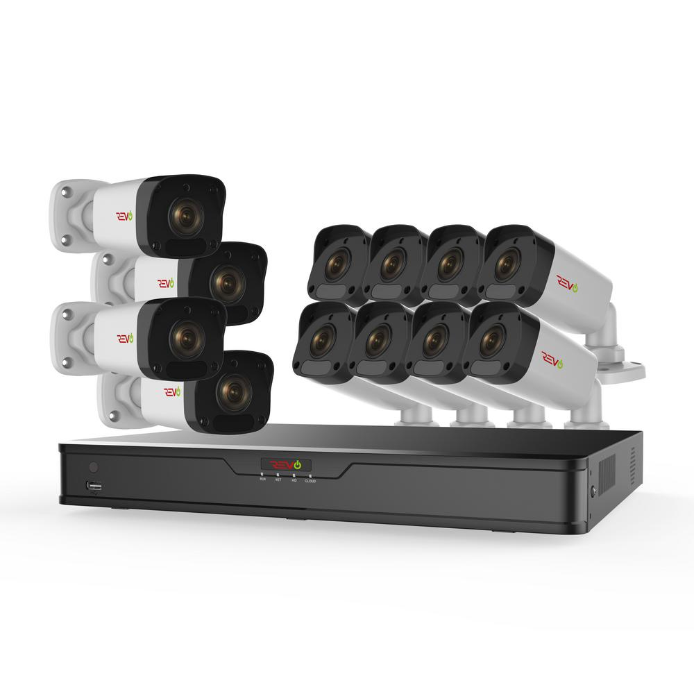Ultra HD 16-Channel 3TB Surveillance NVR System with (12) 2 Megapixel