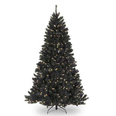 7.5 ft. North Valley Black Spruce Tree with Clear Lights