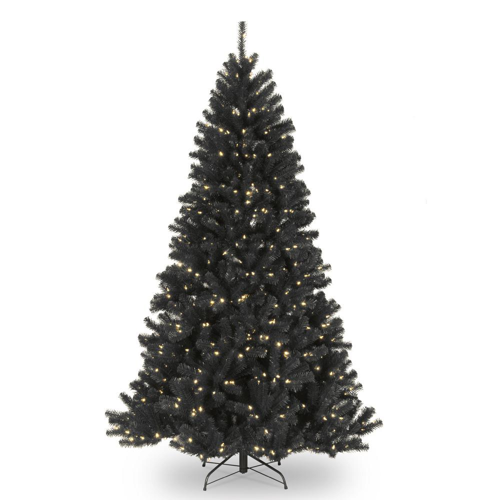 7.5 ft. North Valley Black Spruce Artificial Christmas Tree with Clear Lights