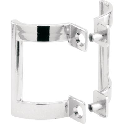 Shower Door Handle Set, 2 in. Mounting Hole Centers, Diecast Construction, Chrome-Plated (1-set)