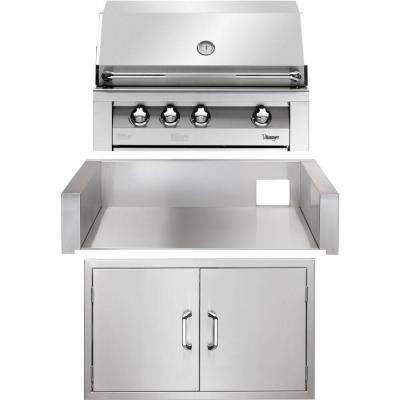 36 in. Built-In Natural Gas Grill in Stainless with Double Access Doors and Insulated Jacket