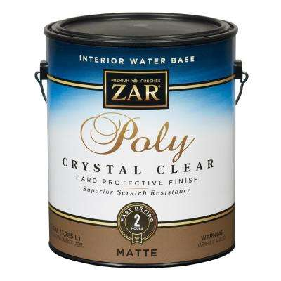 344 1G Matte Crystal Clear Water Based Polyurethane