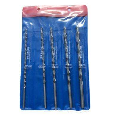12 in. High Speed Steel Extra-Long Drill Bit Set (5-Piece)