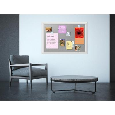 Blanco White Wood 39 in. W x 27 in. H Framed Magnetic Board