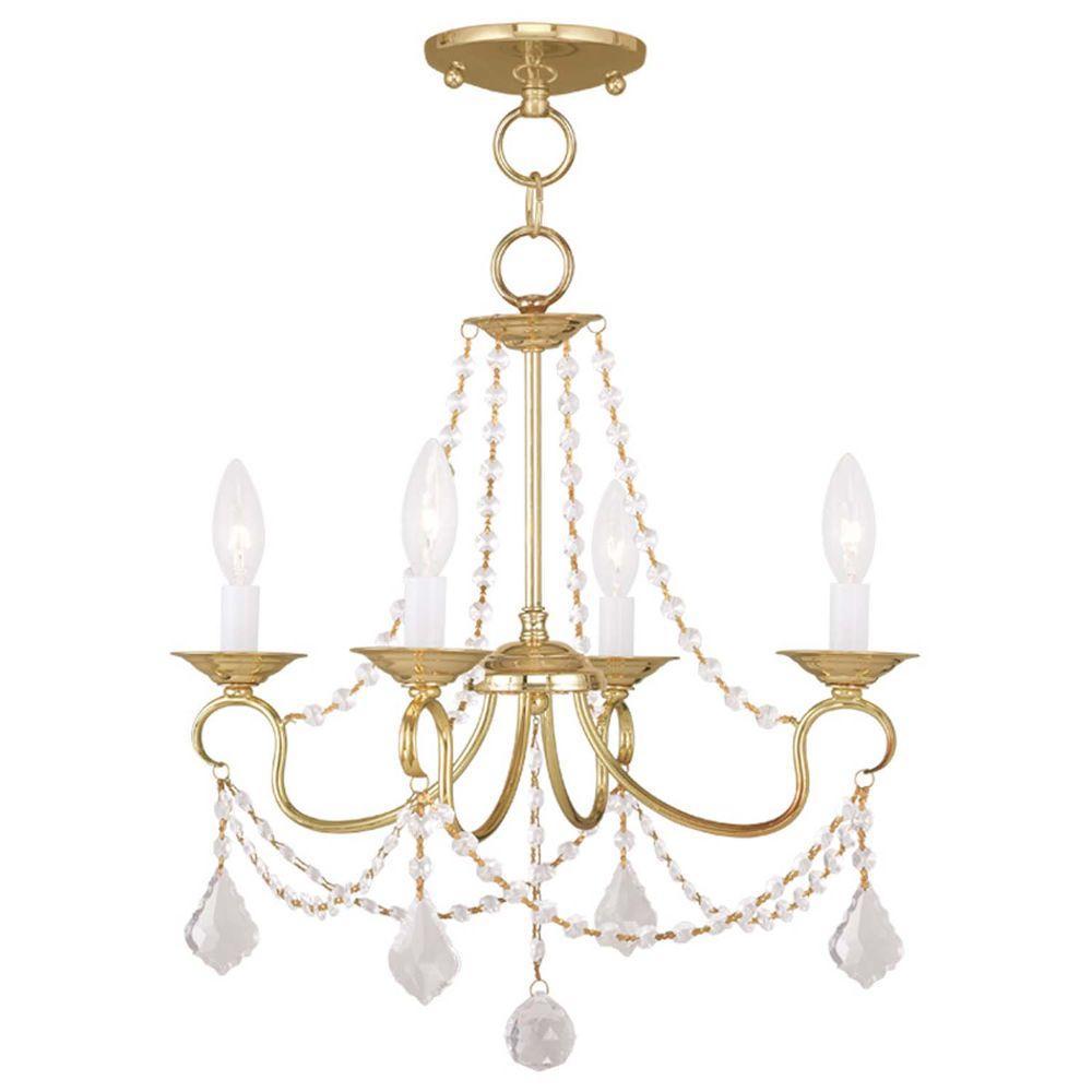 Filament Design Providence 4 Light Polished Brass
