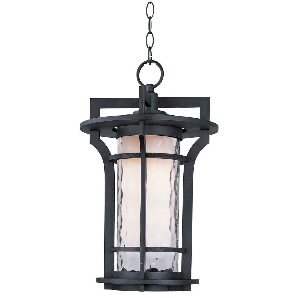 Oakville 12 in. Wide Black Oxide 1-Light Outdoor Hanging Lantern