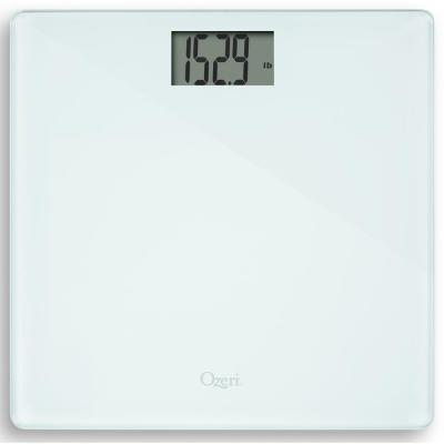Ozeri Precision Bath Scale (440 lbs. / 200 kg) with 50 g Sensor (0.1 lbs / 0.05 kg) and Infant, Pet and Luggage Tare, White