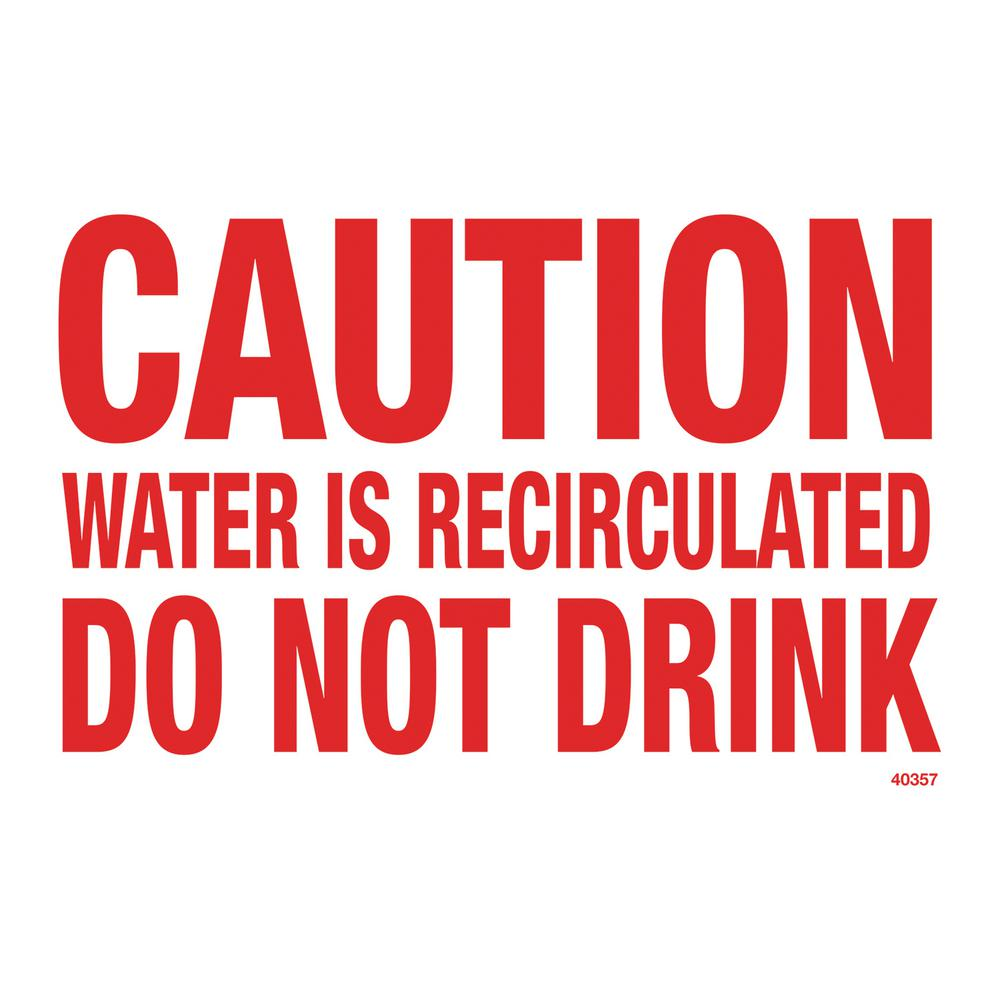 Residential or Commercial Swimming Pool Signs, Caution Do Not Drink