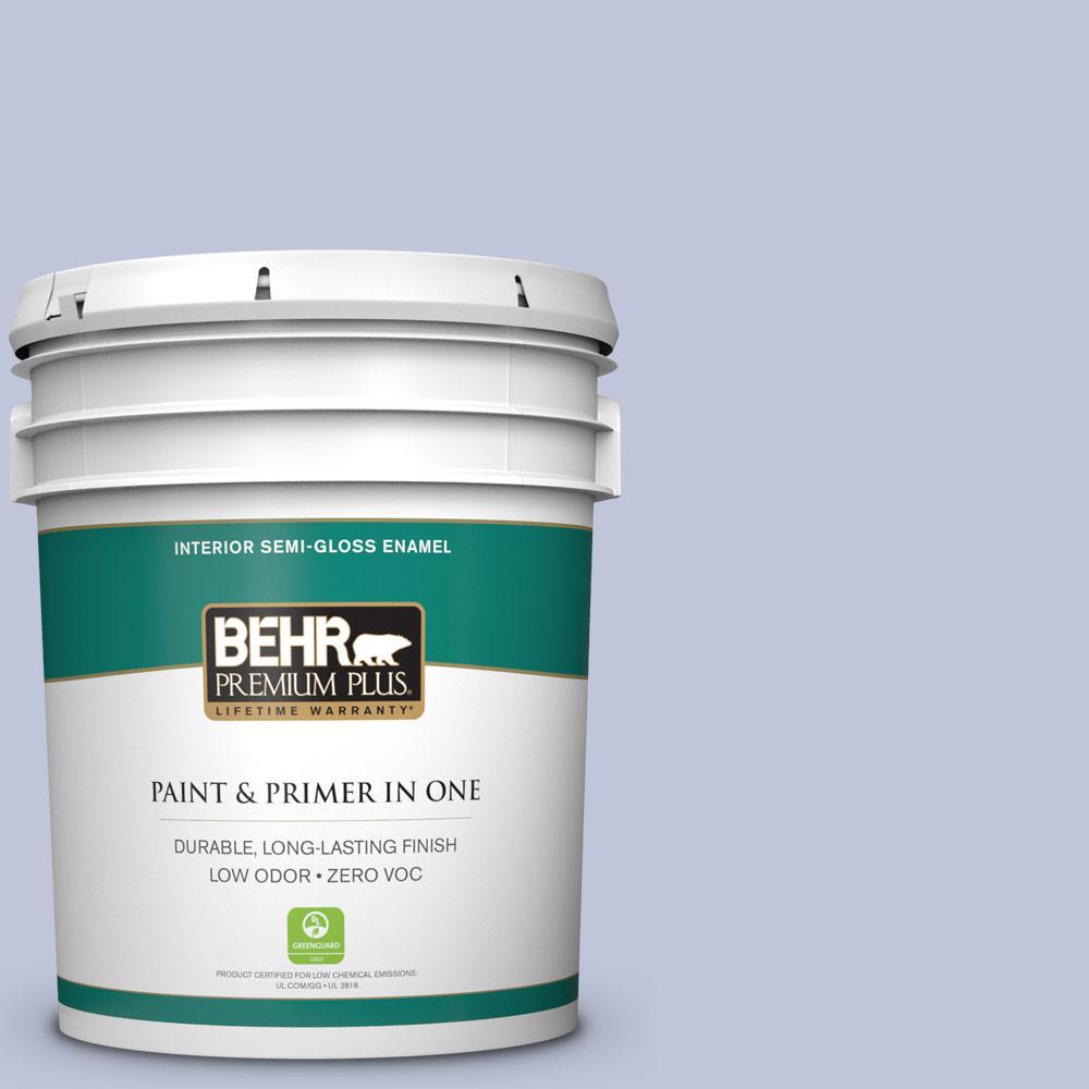 5 gal. #HDC-CT-15A Himalayan Poppy Zero VOC Semi-Gloss Enamel Interior Paint