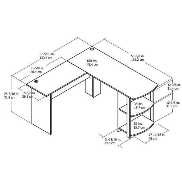 Prime Ameriwood Home Quincy Espresso L Shaped Desk Hd88558 The Download Free Architecture Designs Licukmadebymaigaardcom
