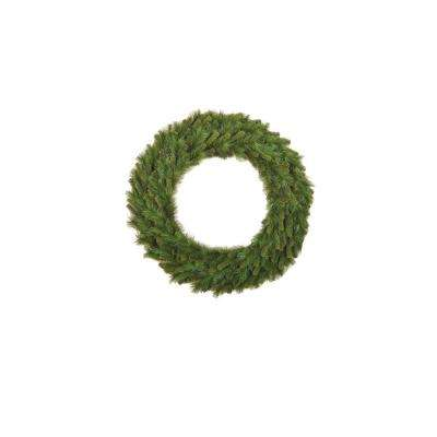 36 in. Mixed Pine Artificial Wreath with Lights