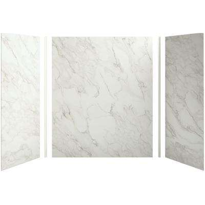 Choreograph 60in. X 36 in. x 72 in. 5-Piece Bath/Shower Wall Surround in CrossCut Dune for 72 in. Bath/Showers