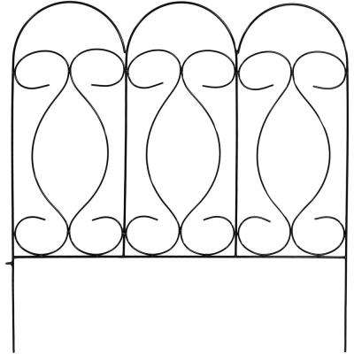 Traditional 24 in. W x 24 in. H Steel Wire Garden Fence (5-Pack)