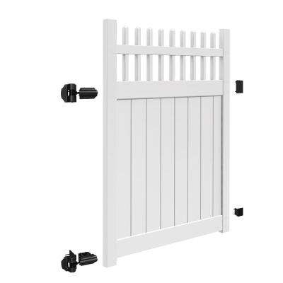 Tennessee 5 ft. W x 6 ft. H White Vinyl Un-Assembled Fence Gate
