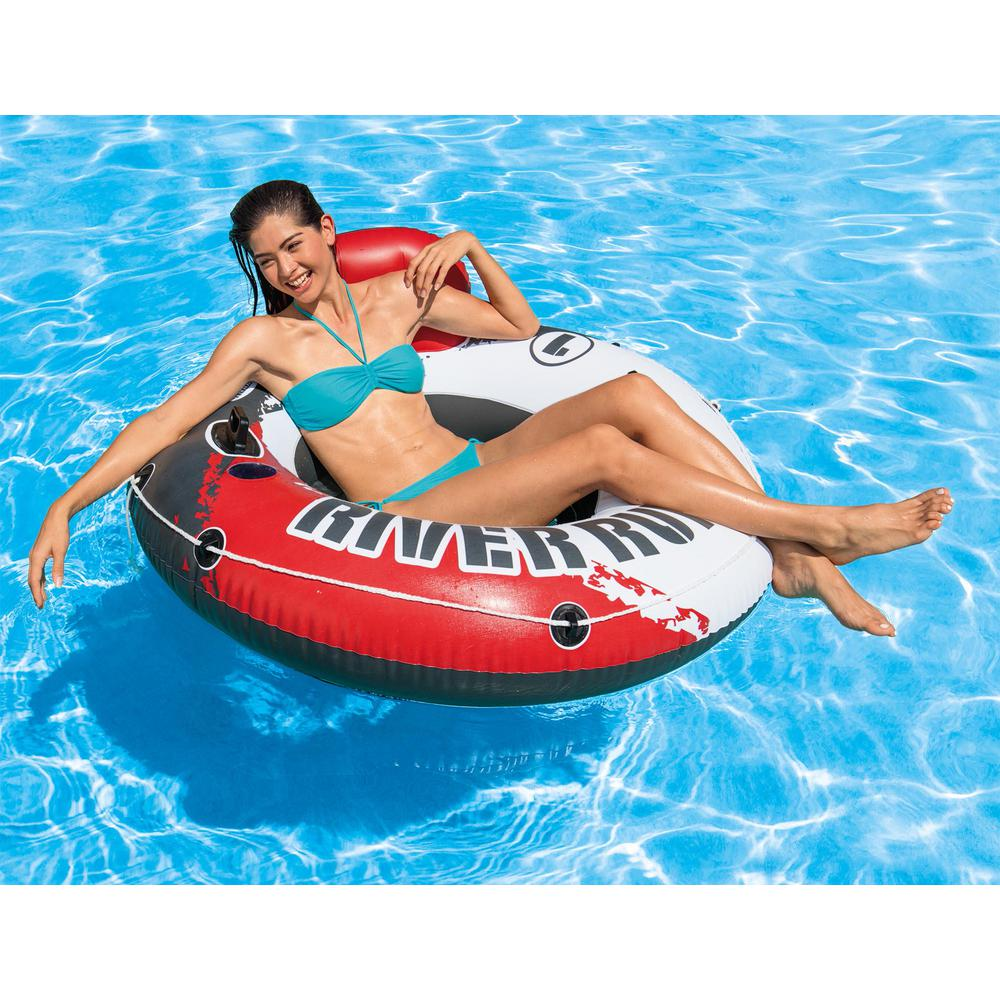 INTEX River Rat Beach Lounge Pool Tube Inflatable Water Swimming Raft New 2 Pack