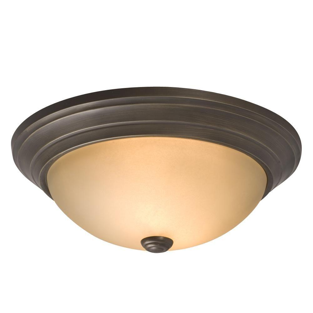 Filament Design Negron 2-Light Bronze Incandescent Flushmount