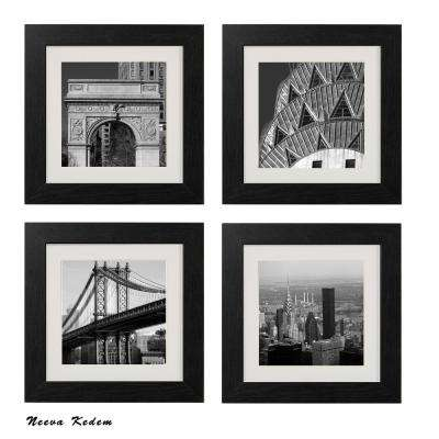 "Four 10 in. x 10 in. ""New York Scene"" by Neeva Kedem Framed Printed Wall Art"