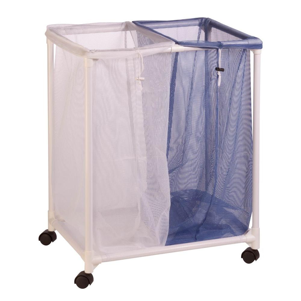 2-Bag Mesh Laundry Sorter Hamper
