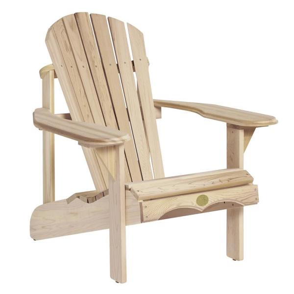Heavy Duty Sun Lounger, Unbranded 36 In The Bear Chair White Pine Wood Adirondack Chair Kit 34177627 The Home Depot