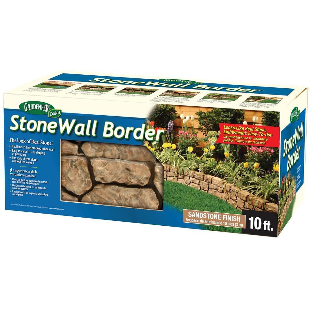 Tan Stone Wall Border E4 10   The Home Depot