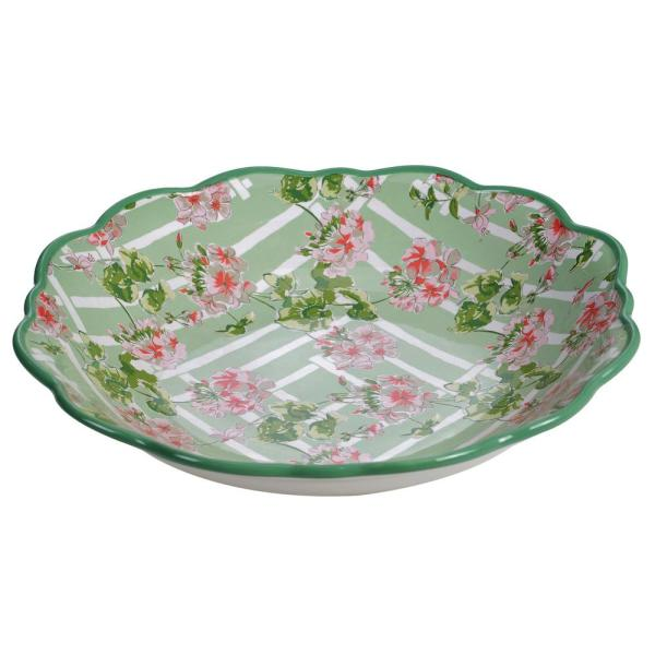 English Garden 13.25 in. Multicolored Serving/Pasta Bowl