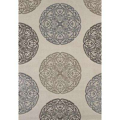 Gaze Cream 5 ft. 3 in. x 7 ft. 6 in. Area Rug