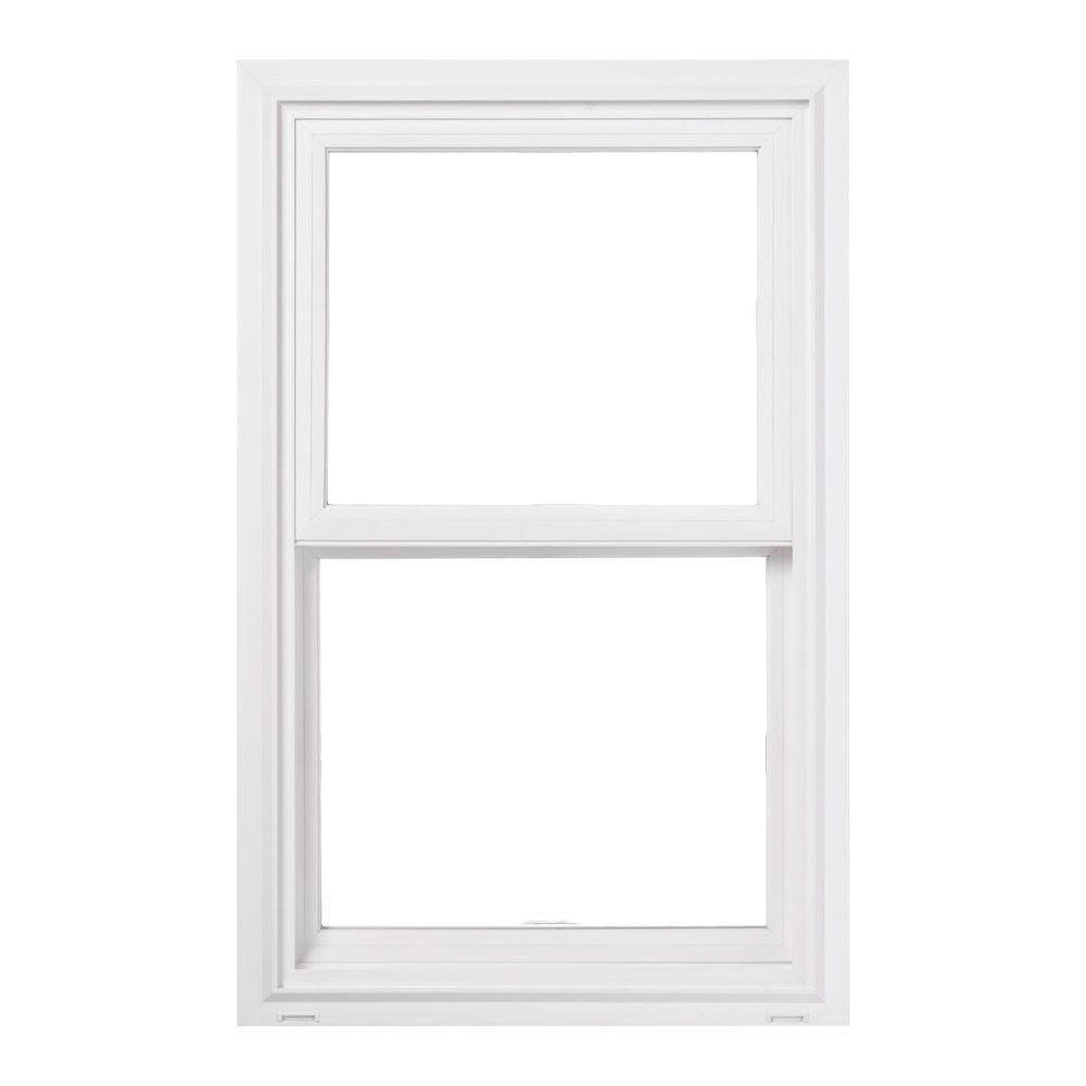 JELD-WEN 35.5 in. x 59.5 in. V-2500 Series Double Hung Vinyl Window - White