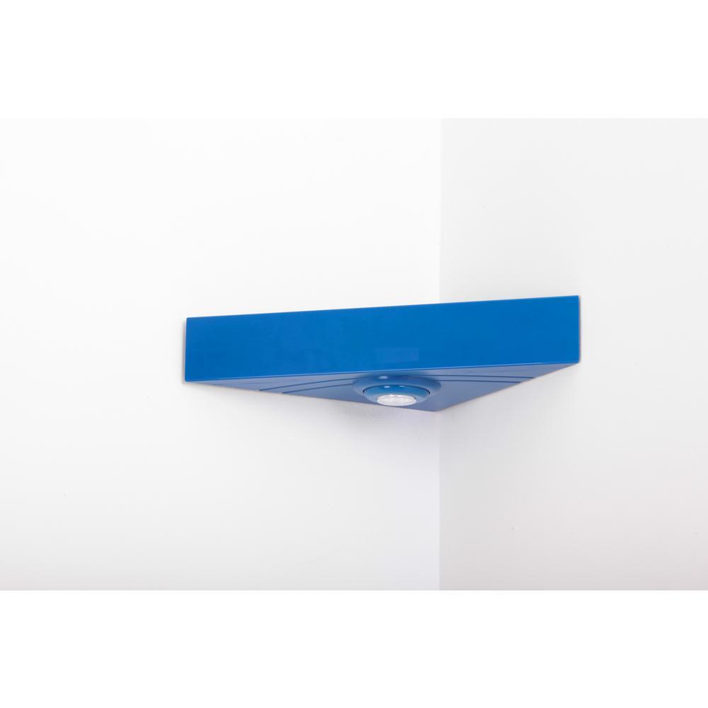 Magic Shelf 16 5 In W X 11 8 D Floating Blue Corner Shelving System