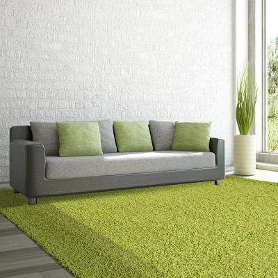 Comfort Shag Lime 5 Ft. X 7 Ft. Area Rug