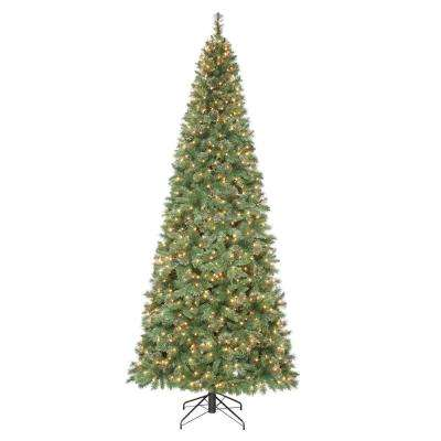 10 ft. Pre-Lit Juniper Spruce Artificial Christmas Tree with 900 Clear Lights