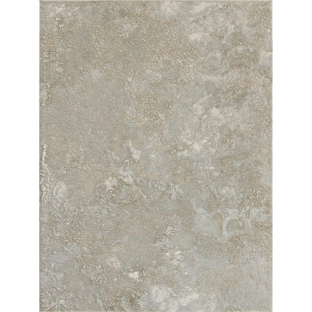 Sandalo Castillian Gray 9 in. x 12 in. Glazed Ceramic Wall