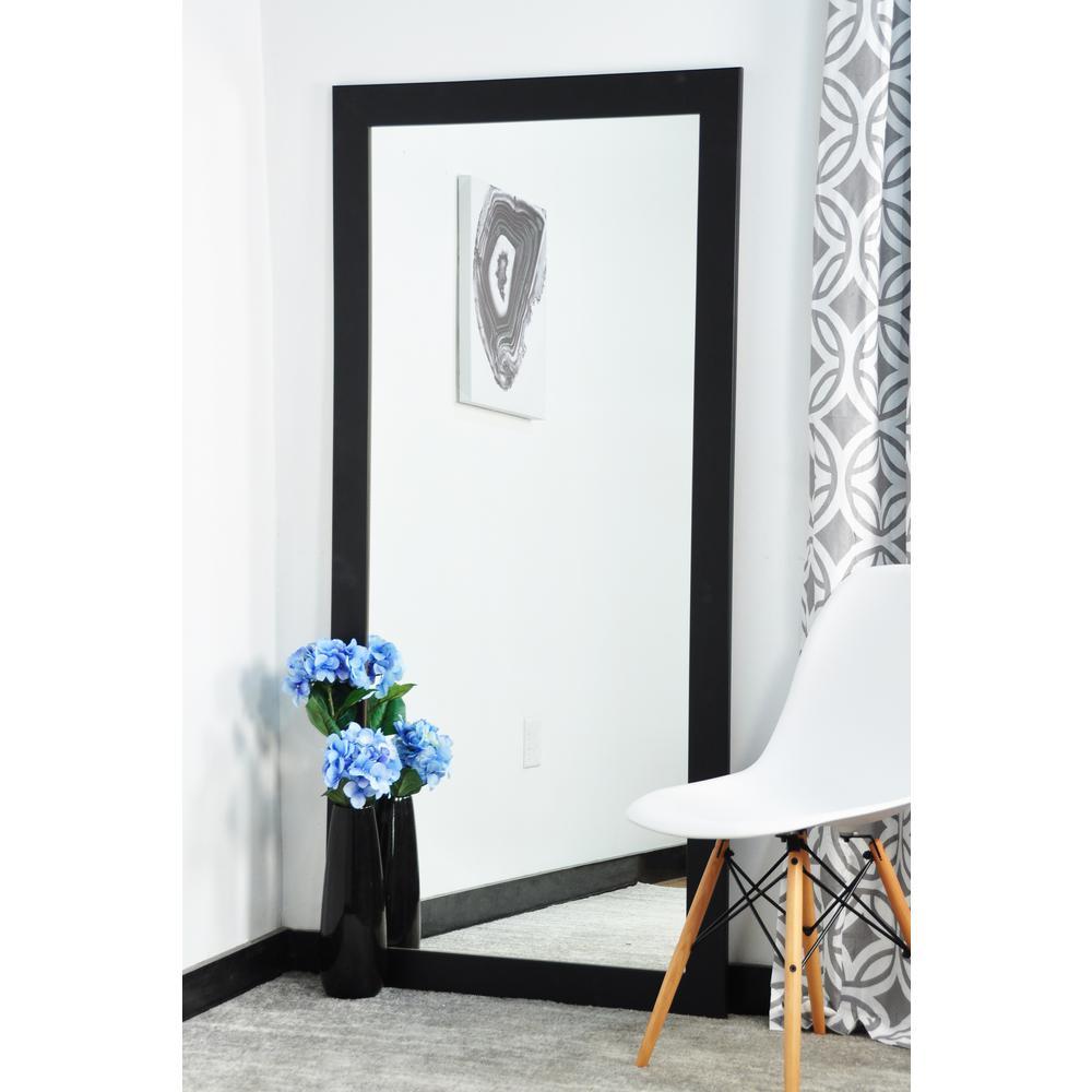 Modern Matte Black Tall Framed Mirror-BM002T-1
