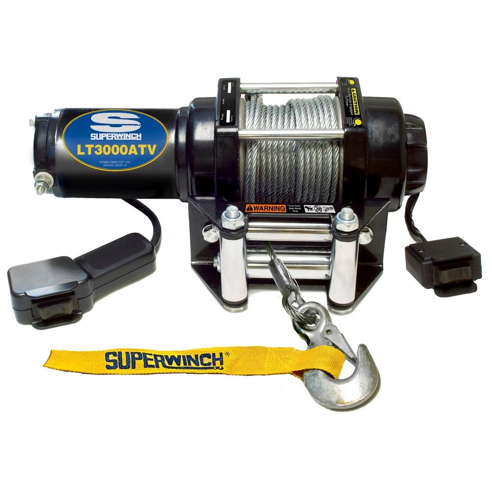 Superwinch LT3000 12-Volt ATV Winch with 4-Way Roller Fairlead and ...