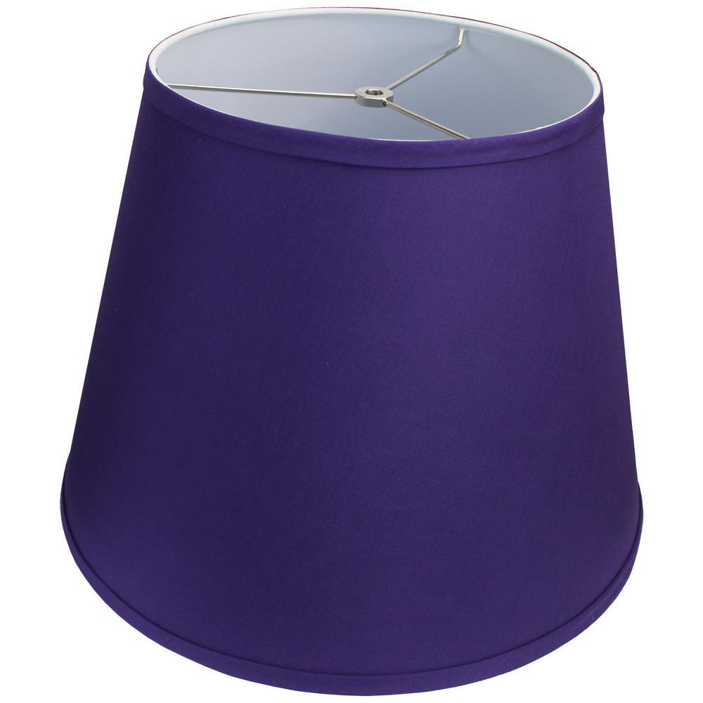 11 in. Top Diameter x 17 in. Bottom Diameter x 13 in. Slant Linen Purple Empire Lamp Shade
