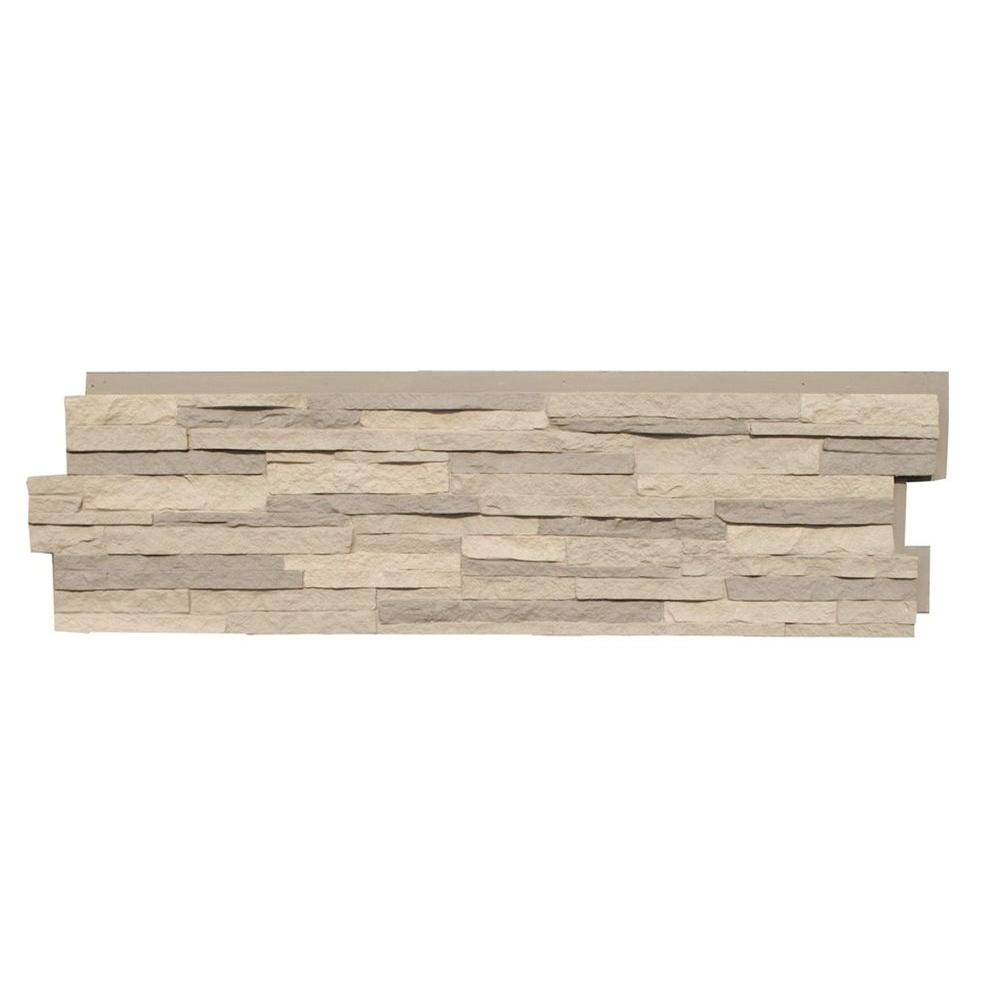 NextStone Stacked Stone Kentucky Gray 13.25 in. x 46.5 in. Faux Stone Siding Panel (5-Pack)