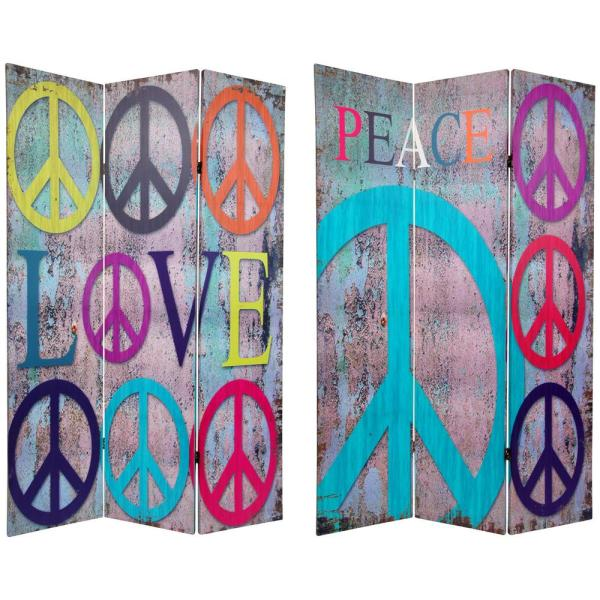 Oriental Furniture 6 ft. Printed 3-Panel Room Divider CAN-PEACE1