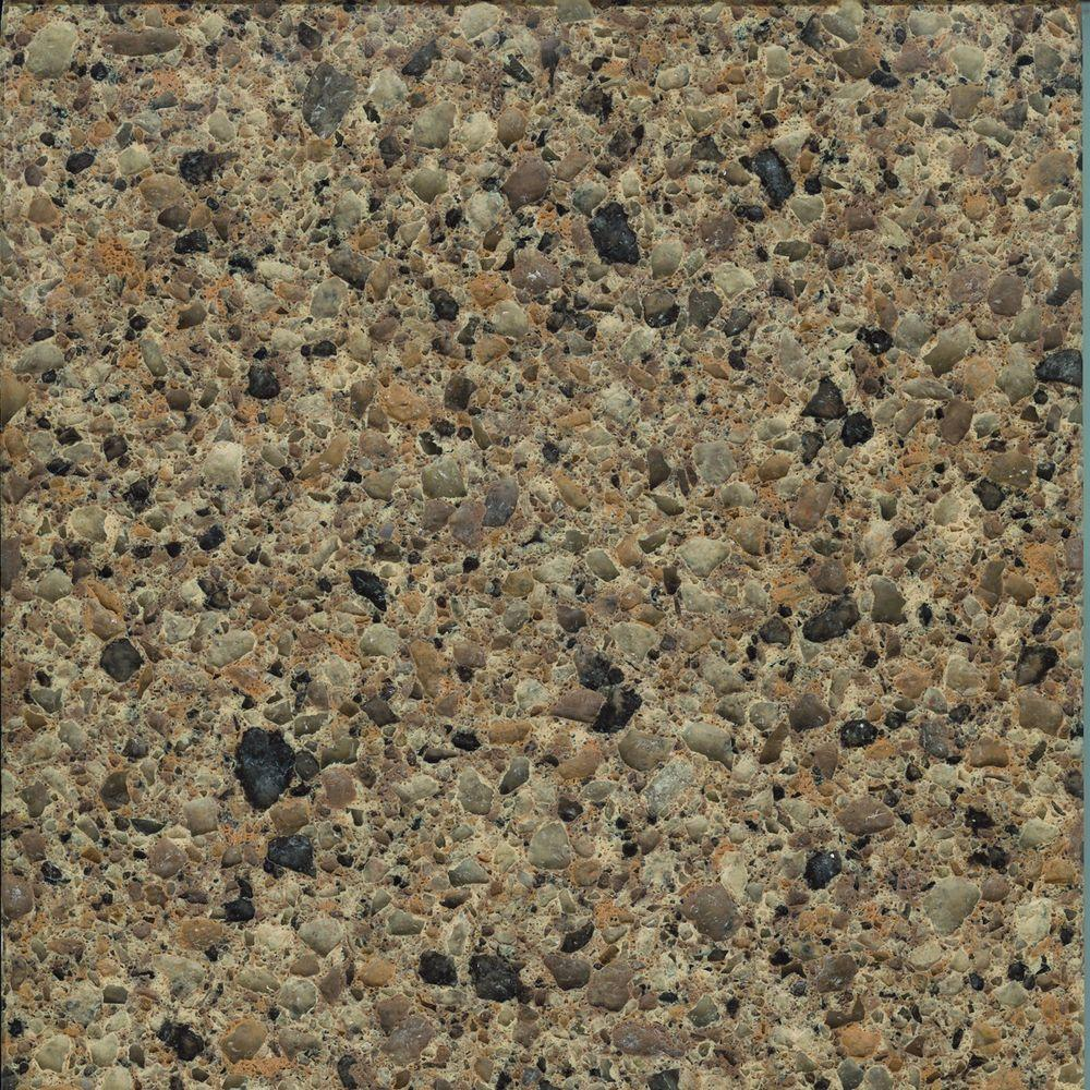 LG Hausys Viatera 2 in. Quartz Countertop Sample in Solar Canyon