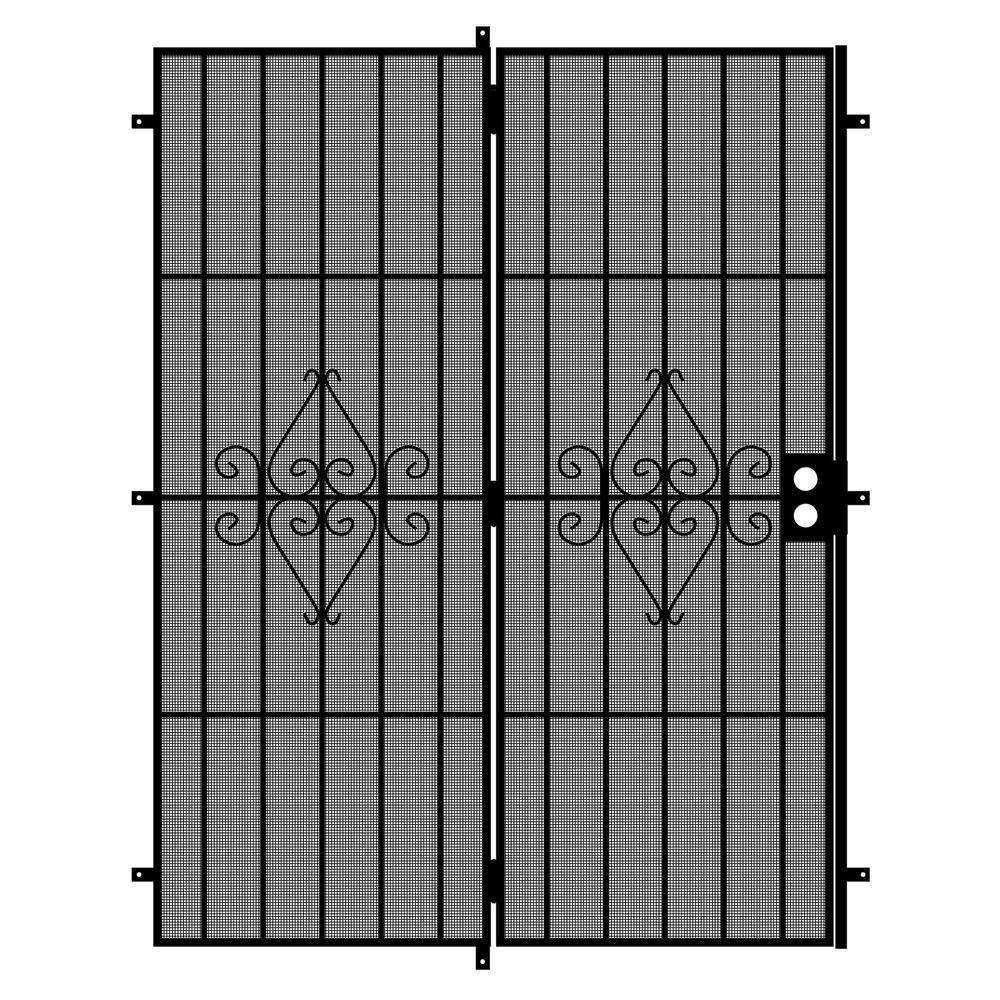 Home Depot Exterior Metal Doors: Unique Home Designs Su Casa 60 In. X 80 In. Black