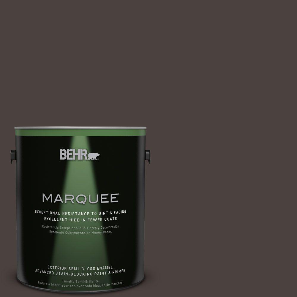 BEHR MARQUEE 1-gal. #PPU5-20 Sweet Molasses Semi-Gloss Enamel Exterior Paint