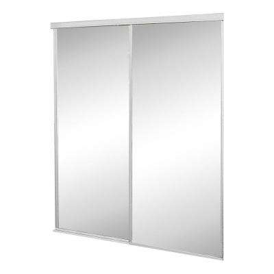 Mirror door sliding doors interior closet doors the home depot concord white aluminum framed mirror interior sliding door planetlyrics Images