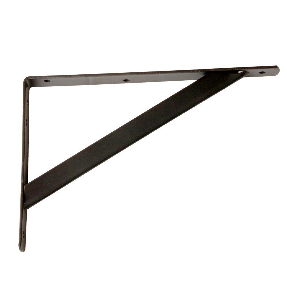 11-1/4 in. x 7.75 in. Heavy-Duty Closet Bronze Shelf Bracket