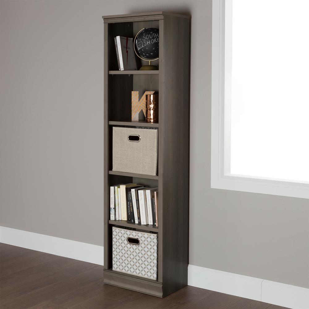 Morgan Gray Maple Open Bookcase