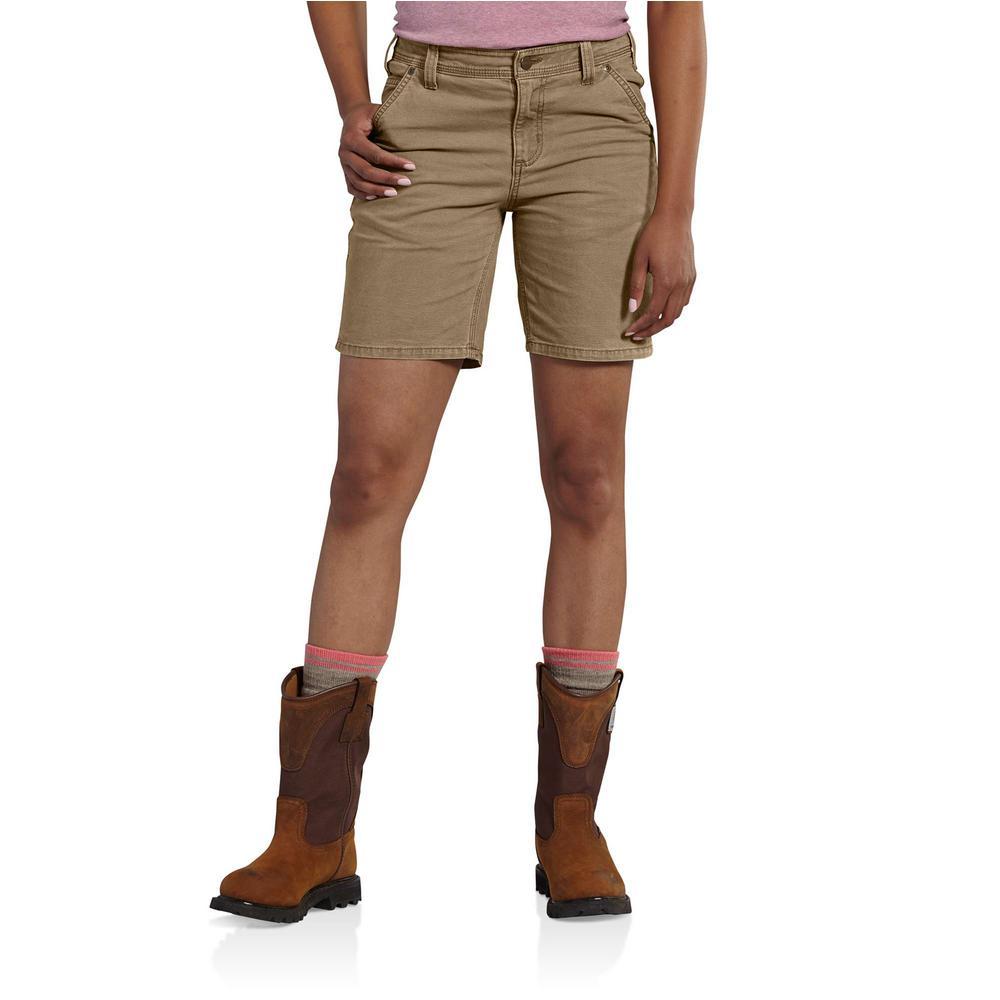 luxury aesthetic buy best dependable performance Carhartt Women's 10 Yukon Cotton/Spandex Original Fit Crawford Short